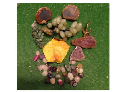 Vintage lot of polished Natural Rocks Stones lots of colors  great display