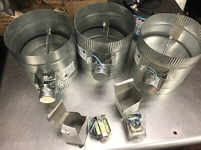 LOT OF 3 Suncourt ZO108 8 in. Automated Damper Normally Open
