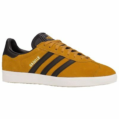 Adidas Gazelle Tactile Yellow Core Black Mens Suede Low-Top Ortholite Trainers