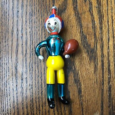 Vintage Carlini Figural Football Player Chtistmas Ornament