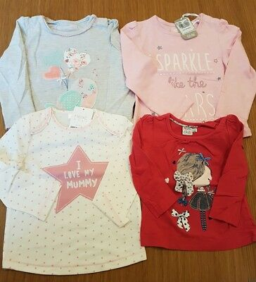 Baby Girls 9-12 Months Long Sleeved Tops Bundle