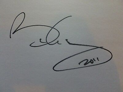 Brian May Signed Autograph Card Queen Genuine Rock Legend