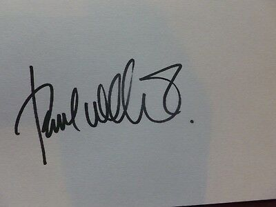 Paul Weller Signed A5 White Card The Jam Genuine Autograph