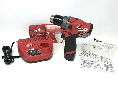 """Milwaukee 2503-20 M12 FUEL 1/2"""" DRILL DRIVER Kit with 2.0 BATTERY & CHARGER"""