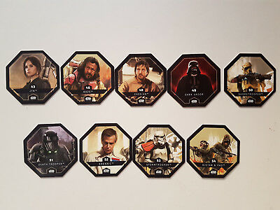 LOT 9 JETONS STAR WARS Rogue One LECLERC