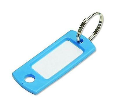 Lucky Line Key Tag With Ring; Blue ,50 Per Bag (16930)