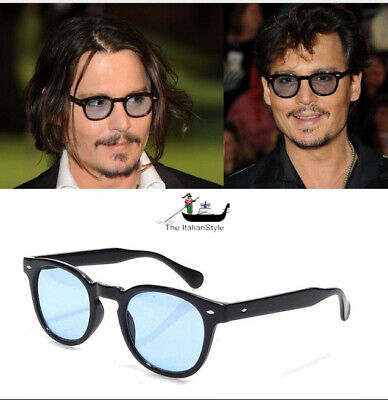 Occhiali Da Sole Style Johnny Depp 2018 Most Wanted Gradient Vintage Rotondi