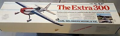 "Vintage Carl Goldberg Models - ""The Extra 300"" Model Airplane Kit; Free Shipping"