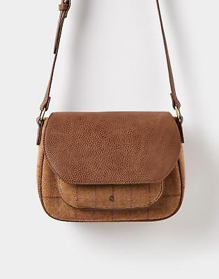 Joules Darby Tweed Saddle Bag in Tan Check in One Size