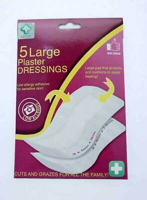 5 x Large Adhesive Wound Dressings Cut Graze Sterile 2 Sizes BUY 1 GET 1 20% OFF