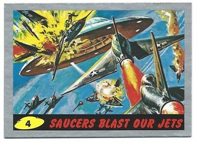 2012 Topps Mars Attacks #4 Silver Parallel Saucers Blast Our Jets