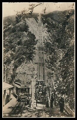Cable Incline Mount Lowe Ky Trolly Cars & People in Period Dress C1900