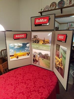 3 panel folding trade show display backdrop for school, office, or exhibition