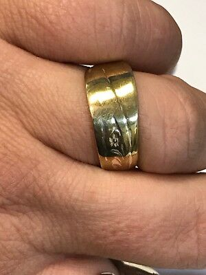 Vintage H & T Spoon Ring Silver Plated Size 9.25