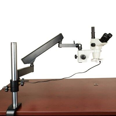 6.7-45X Z Stereo Trinocular Microscope+Articulating Stand+Fluorescent Ring Light
