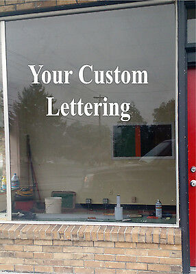 YOUR CUSTOM LETTERING Business Sign Vinyl Sticker Sign Window  18x36