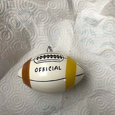 Vintage Figural Carlini Football Christmas Ornament. Excellent