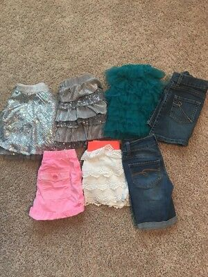 Girls Skirt and Short Lot, Sizes 7-8 (Justice, Gap, Children's Place)