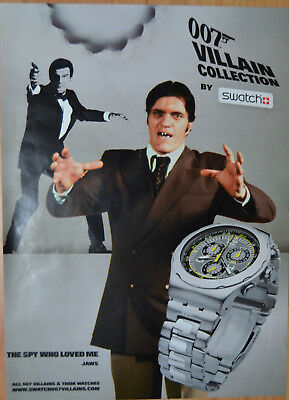 Original Werbung swatch Villain Collection The Spy Who Loved Me James Bond