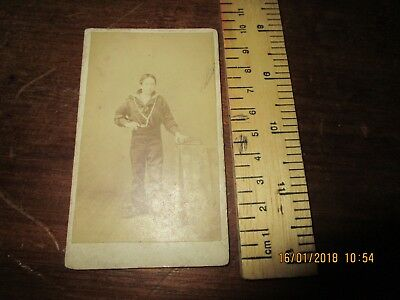 Victorian / 19th C. photo of Royal Navy Sailor /Boy Sailor .Dubreuil's Jersey