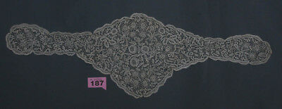 Antique Hand Worked Honiton Lace Head Scarf Hat Shawl (187)