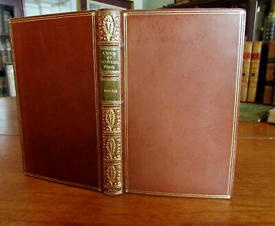 Scottish Verse c.1930's polished full leather beautiful old book