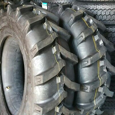(2-TIRES) 11.2x24,11.2-24 - 8 PLY Tractor Tires With/Tubes 11224 FREE SHIPPING