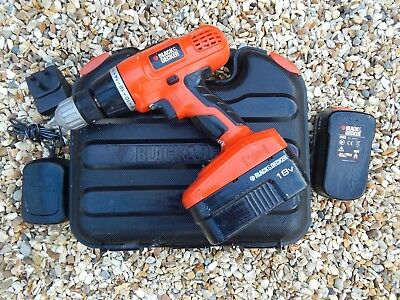 Black And Decker EPC188 18v Cordless Combi Hammer Drill  with extra Battery