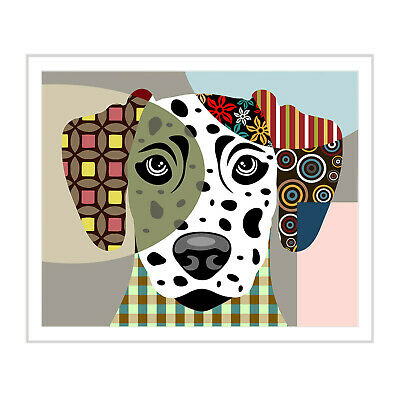 Print Art Dog Dalmatian Puppy Vintage Original Giclée Modern Painting 8x10 NEW