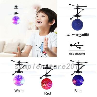 Electric RC Fly Ball Infrared Induction Aircraft Flash LED Light Mini Remote Toy