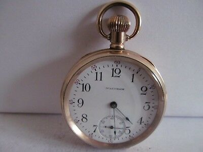 1907 Waltham Mass pocket watch 15 jewels gold plated v. g. condition working