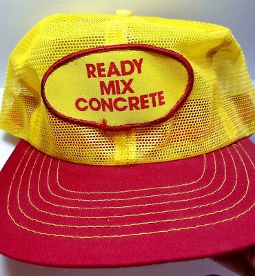 VTG-1980s Ready Mix Concrete Snapback All Mesh Trucker hat Made in USA