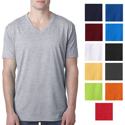 Men's True Rock V-neck Tshirt COTTON Classic Shirt Basic Essential Tee Premium!