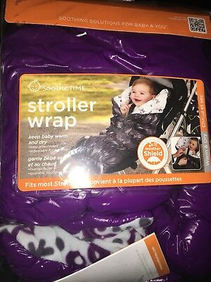NEW SootheTime Stroller Wrap & Car Seat Footmuff - Plum/Gray