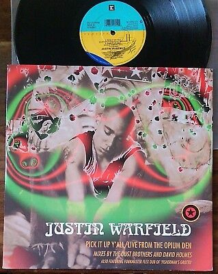 """Justin Warfield–""""Pick It Up Y'All/Live From The Opium den"""" Original 1994 UK 12"""""""