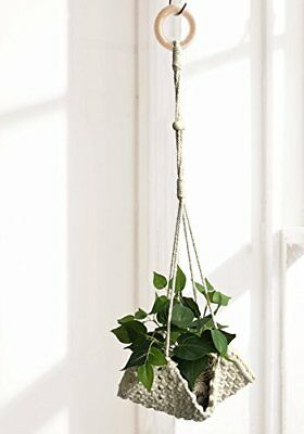 """NEW Macrame Plant Hanger Handmade Cotton Rope Wall Hangings Home Decor30""""L"""