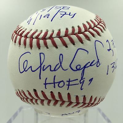 6f212163fc5 Orlando Cepeda Signed Heavily Inscribed Stat Baseball MLB AUTHENTICATED