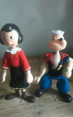 RARE ~ KING FEATURES  ~ R DAKIN ~ POPEYE AND OLIVE FIGURES 1970 s