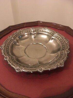 Silver Decorative Scalloped Dish Not Hallmarked ?