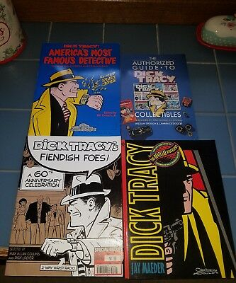 LOT OF 4 Chester Gould DICK TRACY Softcover books