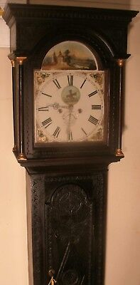 Antique Cornish Oak Automation Windmill Dial Longcase / Grandfather Clock