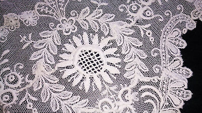 "Antique French Tambour Lace Banquet Table Runner 12"" x 88"""