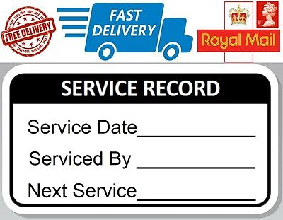 48 x Service Record Labels Next Service Reminder Stickers