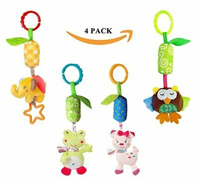Infant Baby Rattle Toys Kids Stroller Hanging Newborn Car Crib Wind Chime 4 Pack