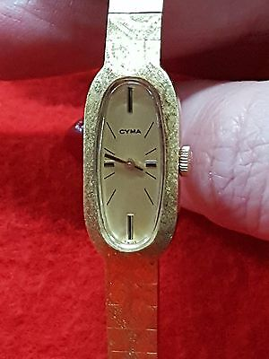 Cyma Ladies Wrist Watch Gold Plated 10 Microns Manual
