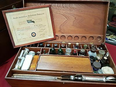 Pre Ww2 1938 South Australia Ambulance First Aid Case Medical Full