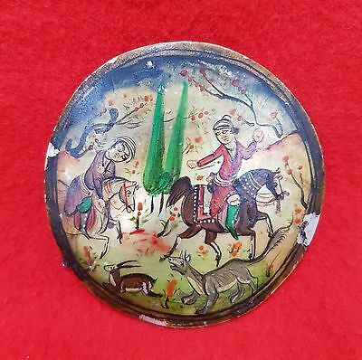 Vintage Hand Painted Mother Of Pearl Shell India