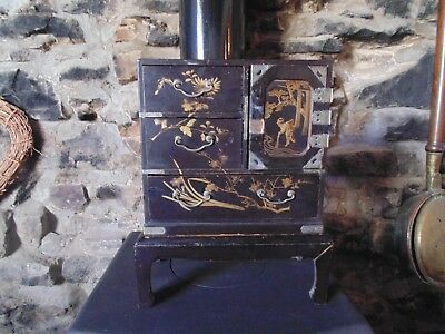 Oriental Lacquer Table Cabinet on stand