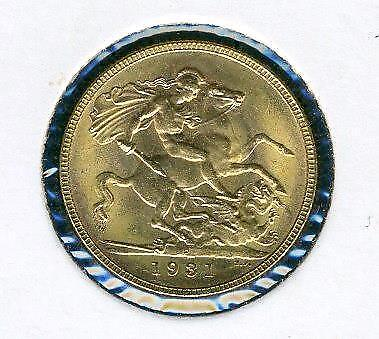 1931 P Australian Gold Sovereign - High Grade