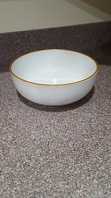 Thomas Obrien Vintage Modern White 9 3/4\  Serving Bowl Concentric Rings : thomas pottery dinnerware - pezcame.com